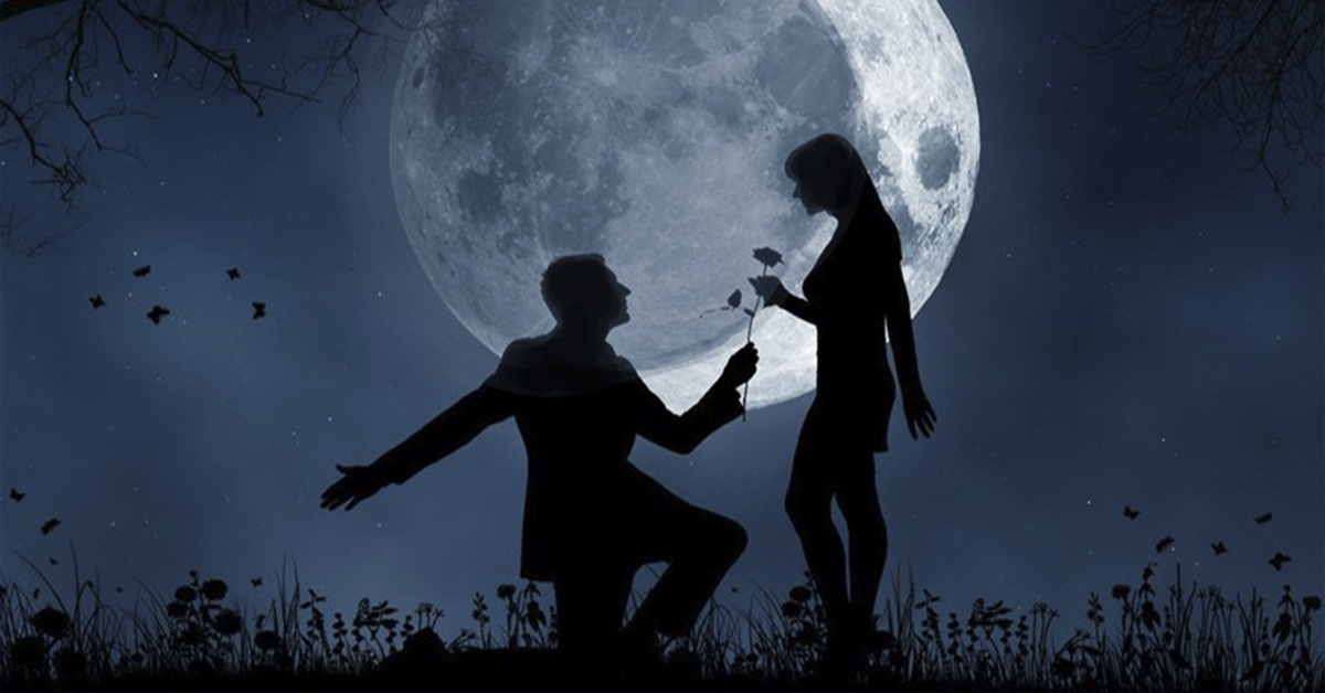 Поцелуй при луне фото запеченная