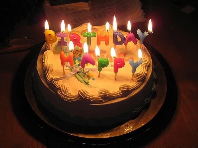 Happy Birthday Chocolate Cake With Candle Images Beautiful Regarding
